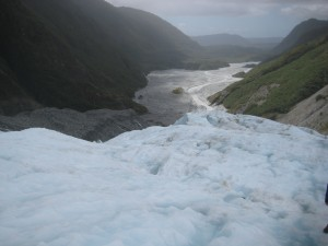 View of the glacial valley