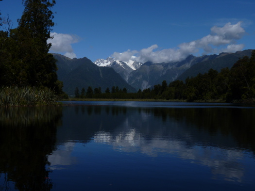 Southern Alps Reflected on Lake Matheson