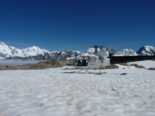 Helicopter in the Southern Alps