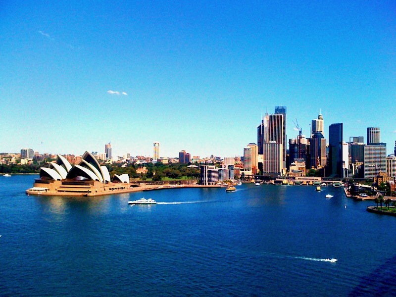 Sydney Harbour and Sydney Skyline