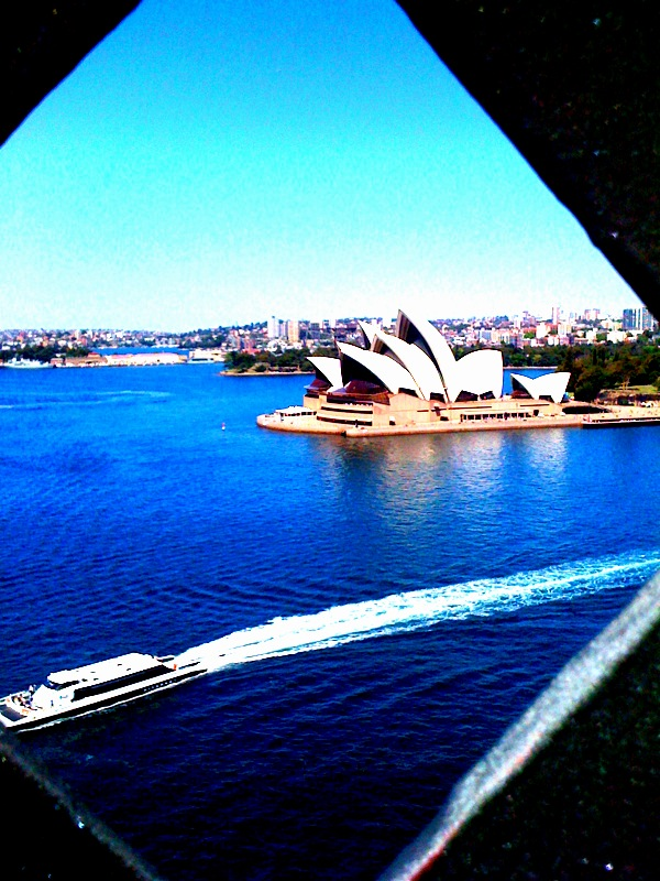 Sydney Opera House from the Sydney Harbour Bridge