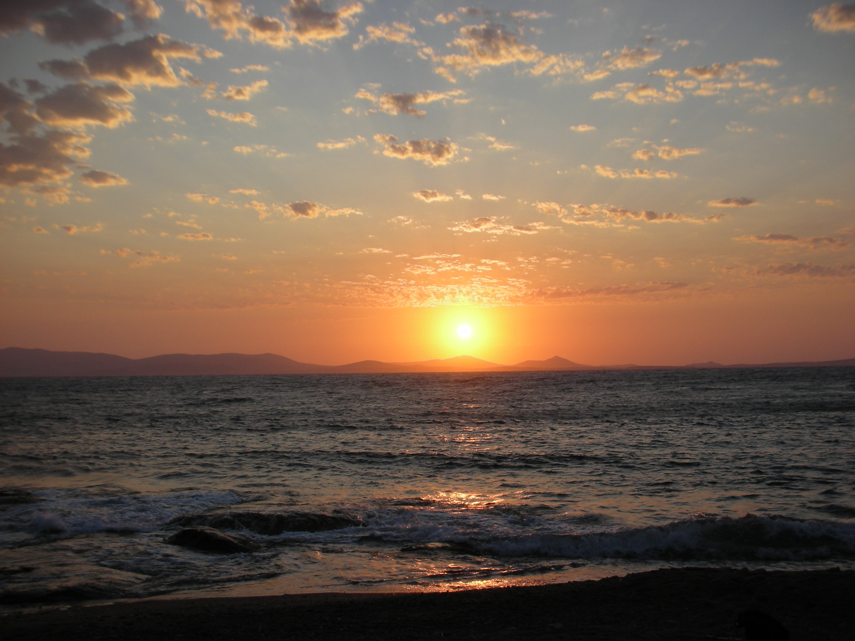Sunset on Naxos