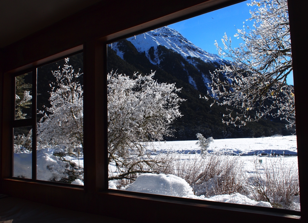 View from the Routeburn Flats Hut