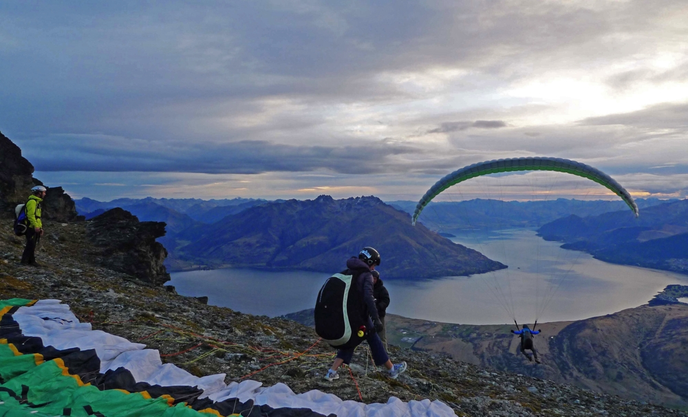 Paragliding Off the Remarkables