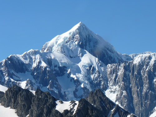 Mount Cook - New Zealand's highest peak - 12,316 feet