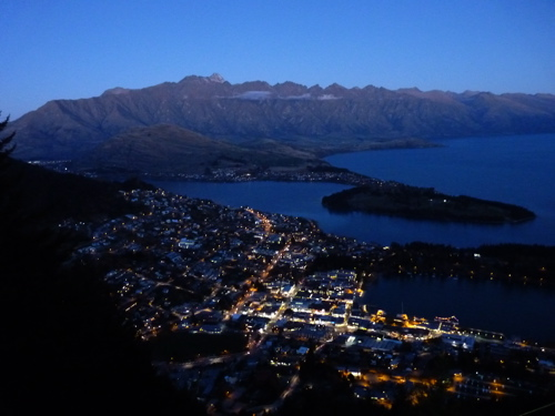 View of Queenstown from The Ledge Bungy