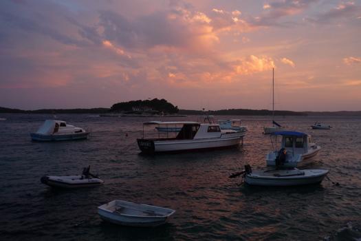 Sunset Over Hvar Island - Croatia