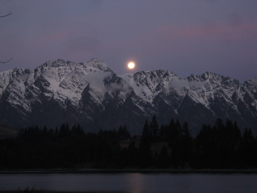 Moon Rising over The Remarkables