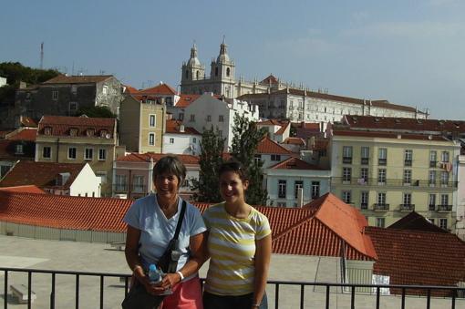 Cat and her abuelita, Helen in Lisbon