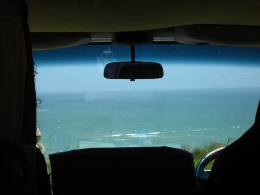 Tasman Sea from a Toyota Hiace Campervan