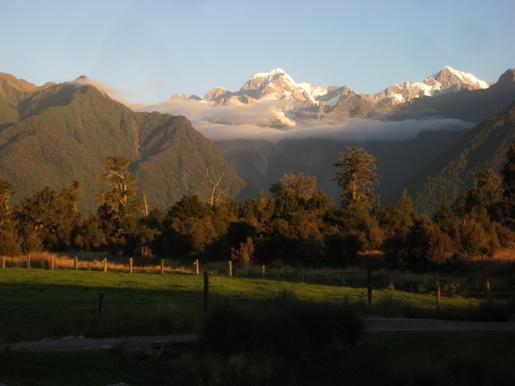 View of Mount Tasman from Lake Matheson