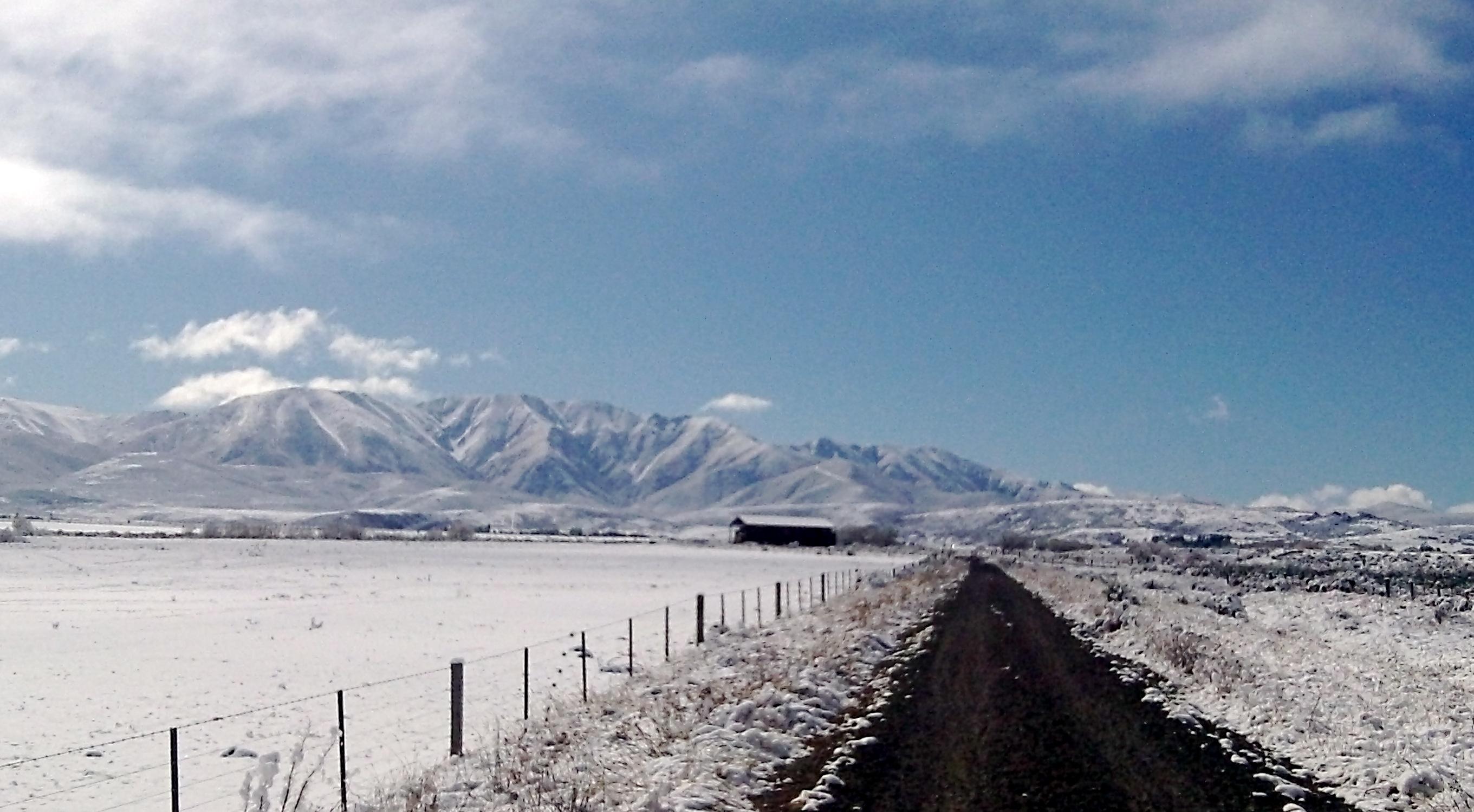 Snow Covered Otago Rail Trail