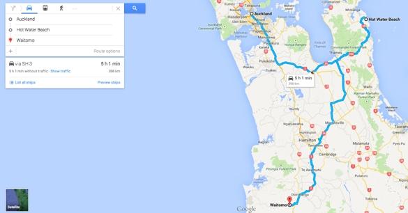 Auckland to Coromandel to Waitomo