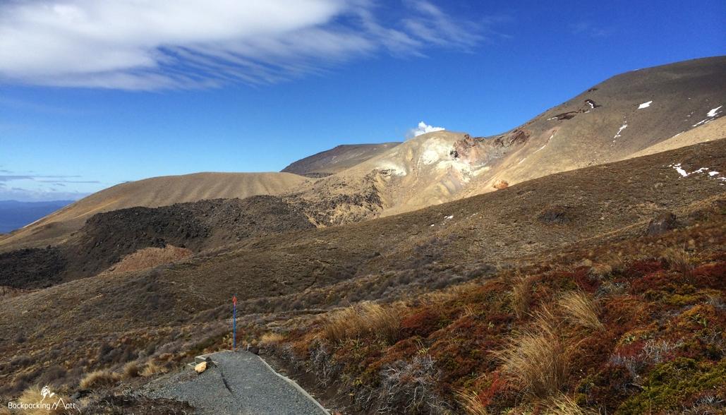 Steaming Te Maari Crater