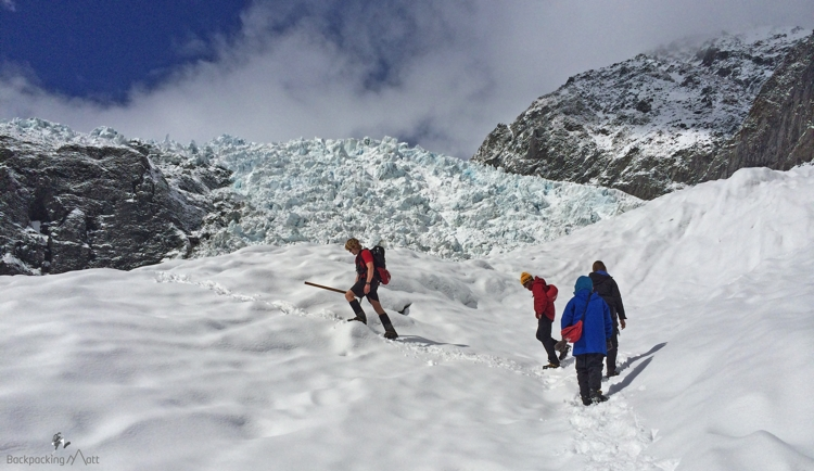 Climbing up the Glacier