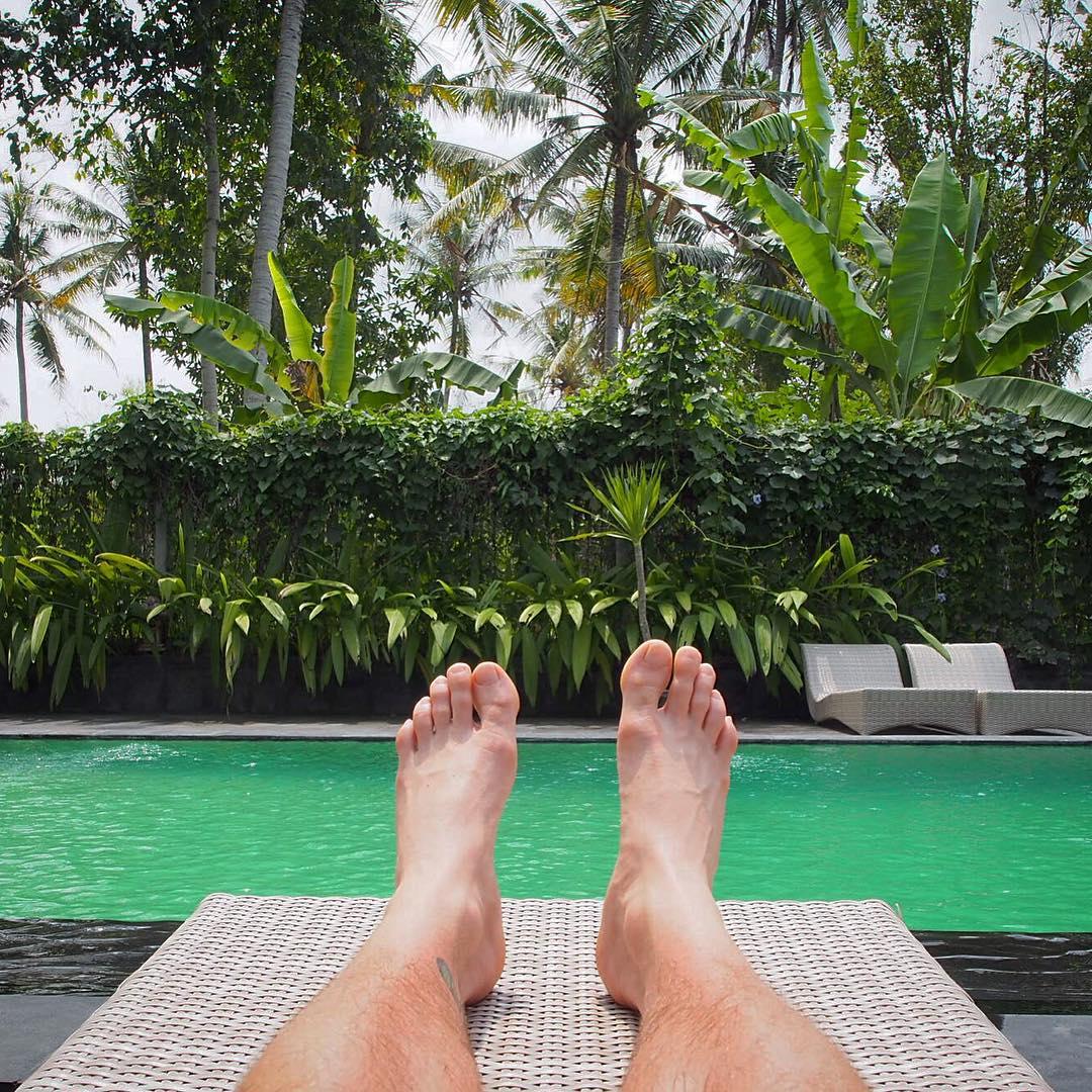 Poolside at Ubud Ubad Retreat