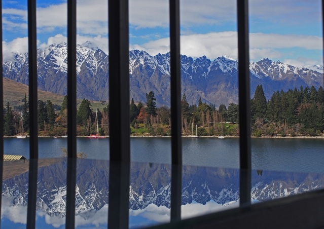 Balcony Reflections at Hotel St Mortiz